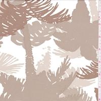White/Mocha Palm Tree Swimwear