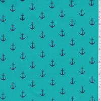 Teal/Navy Anchor Swimwear