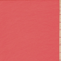 Salmon Red Silk Crepe Georgette