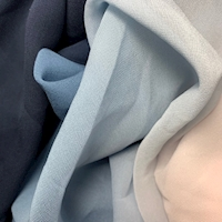 Navy/Pink Ombre Silk Chiffon