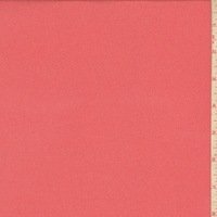 Bright Coral Silk Crepe Georgette