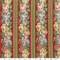 Red/Pink/Multi Floral Stripe Tapestry