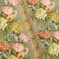 Taupe Gray/Multi European Floral Tapestry Decorating Fabric