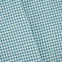 *1 5/8 YD PC--Teal/White Wool Blend  Textured Dobby Woven Jacketing