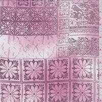 *2 YD PC--Blush Pink/Burgundy Scroll Tile Georgette
