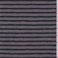 *2 3/4 YD PC--Dark Taupe/Navy Stripe Sweater Knit