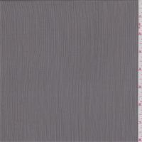 *1 1/4 YD PC--Pewter Grey Crinkled Herringbone Chiffon