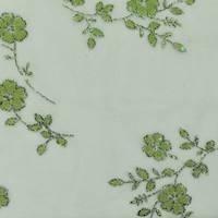 *1 3/8 YD PC--Nature Green Glitter/Bead Flock Mesh