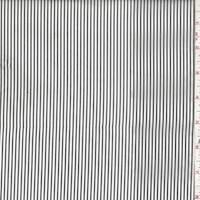 *7/8 YD PC--Dark Charcoal/White Stripe Nylon