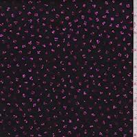 *4 YD PC--Black/Fuchsia Glitter Dot Slinky Knit