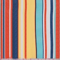 Orange/Ocean/Yellow Stripe Crinkled Gauze