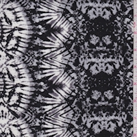 Black/Sterling Kaleidescope Crinkled Gauze