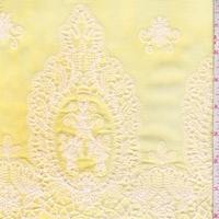 Yellow/Ivory Embroidered Medallion Rayon Challis