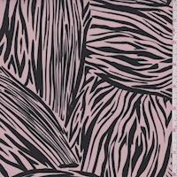 Blush Pink/Black Zebra Print Crepe Faille