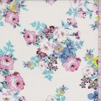 Off White Floral Bouquet Georgette
