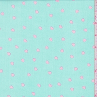 Mint Blue/Pink Mini Heart Georgette