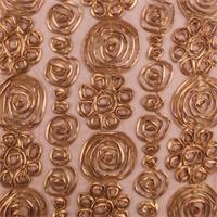 *3 3/8 YD PC--Copper Brown Swirl Ribbon Mesh
