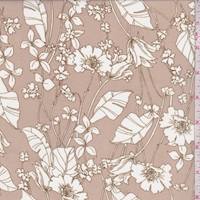 *4 YD PC--Hazelnut/White Cosmo Floral Chiffon