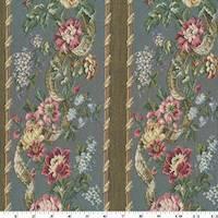 Rainy Blue/Pink/Multi Floral Stripe Tapestry Decor Fabric