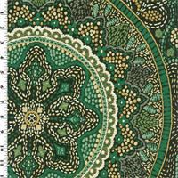 *4 3/8 YD PC--Designer Emerald Green Telega Home Decorating Fabric