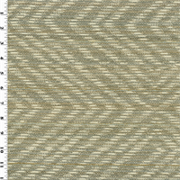 *1 1/2 YD PC--Designer Gray/Beige Kasun Ikat Chevron Home Decorating Fabric