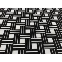 *9 YD PC--Black/White Morgan Print Velveteen Decorating Fabric