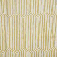 *7 YD PC--Straw Yellow/Multi Abstract Printed Canvas Decor Fabric