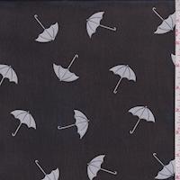 Black/Silver Umbrella Georgette