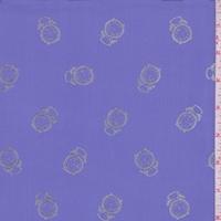 Dark Lilac/Silver Clock Georgette