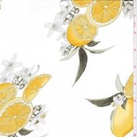 White Lemon Bunch Double Brushed Jersey Knit