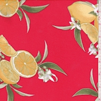 Red Lemon Bunch Double Brushed Jersey Knit