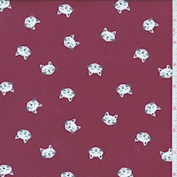 Cranberry Kitty Double Brushed Jersey Knit
