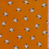 Deep Orange Kitty Double Brushed Jersey Knit