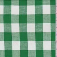 *2 YD PC--Kelly/White Check Linen