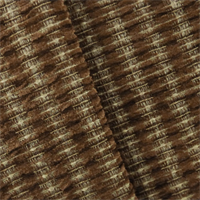 *1 YD PC--Rust Brown Valdese Redeem Chenille Upholstery Fabric
