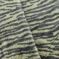 *3 YD PC--Beige/Black Tiger Printed Faux Fur