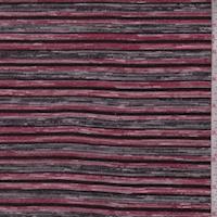 Ruby/Black/Grey Stripe Sweater Knit