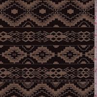 Black/Tan Aztec Stripe Jacquard Double Knit