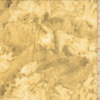 Ochre Marble Silk Chiffon