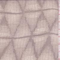 Taupe/Beige Diamond Crinkle Silk Chiffon