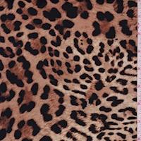 *2 YD PC--ITY Pale Brown Cheetah Nylon Jersey Knit