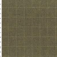*4 1/8 YD PC--Earthy Brown Wool Blend Texture Grid Jacketing