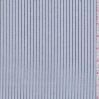 *5 3/8 YD PC--Powder Blue/Black Stripe Oxford Shirting