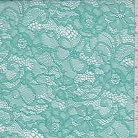 *7 YD PC--Aquamarine Green Floral Lace