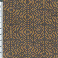 *4 5/8 YD PC--Aged Bronze Stained Glass Print Mesh Jersey Knit