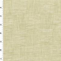 *3 YD PC--Natural Beige/Ivory Linen Blend Texture Checkered Shirting