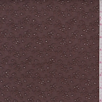 *4 YD PC--Brown Mini Floral Cluster Eyelet