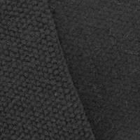 *1 1/4 YD PC--Slate Black Wool Blend Textured Knit Jacketing