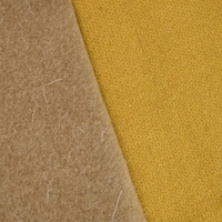 *1 7/8 YD PC--Golden Yellow/Brown Double Woven Wool Blend Jacketing