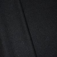 *4 YD PC--Solid Black Boiled Wool Blend Jacketing
